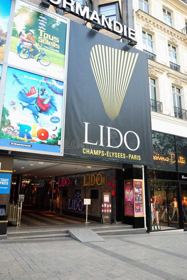 Das Lido in Paris stockfoto