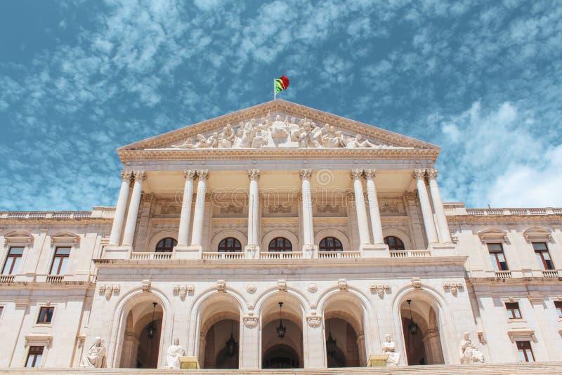 Das Lissabon-Rathaus in Lissabon lizenzfreie stockfotos