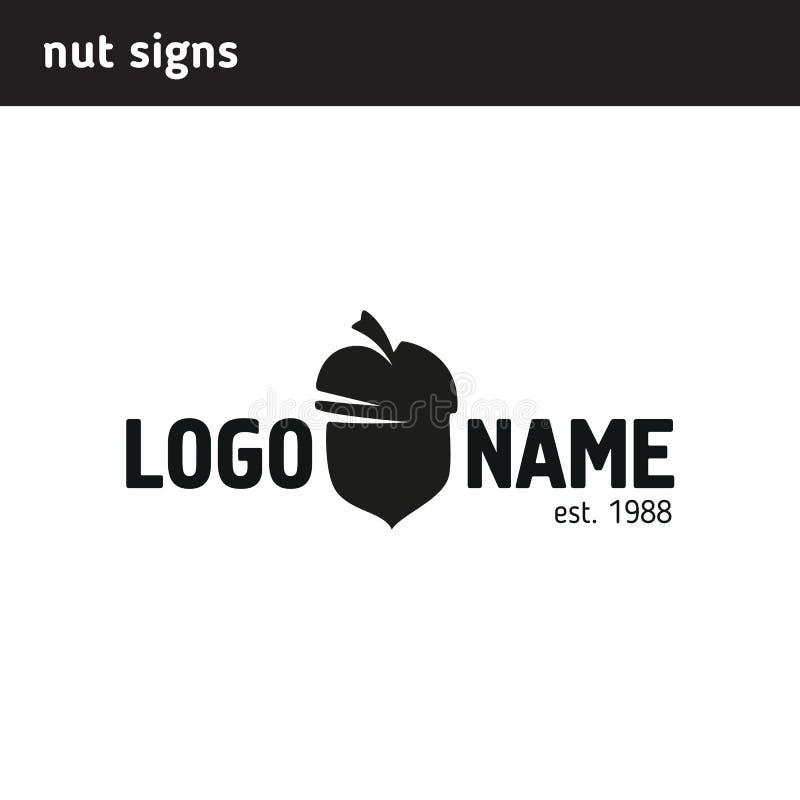 Das Logo in Form einer Nuss lizenzfreie abbildung