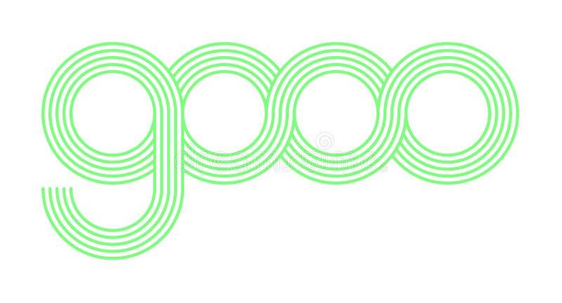 Das Logo von gooo ist einzigartig und erstaunlich stockfoto