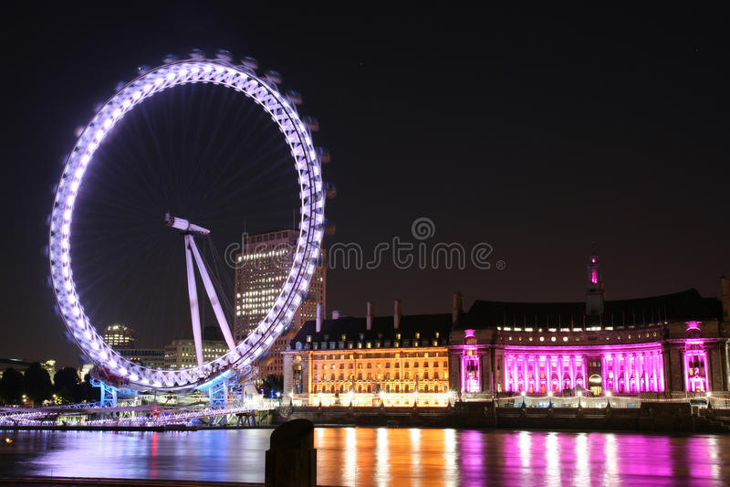 DAS LONDON-AUGE IN LONDON stockbilder