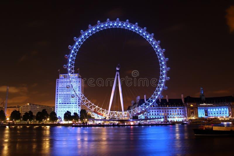 Das London-Auge, London, England lizenzfreies stockfoto