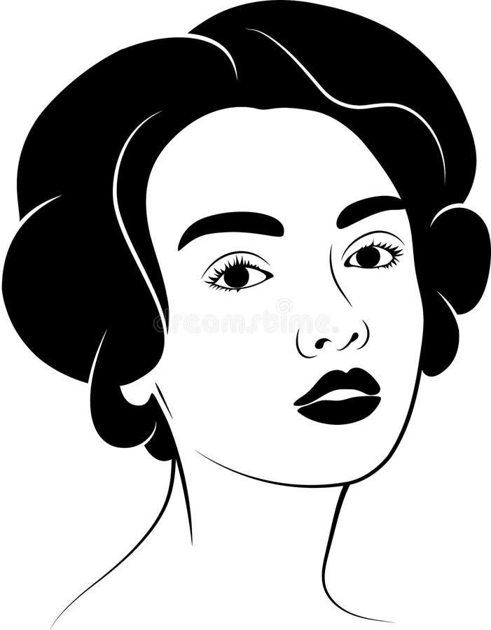 Das Mädchen mit dem Haar Schattenbild stockbilder