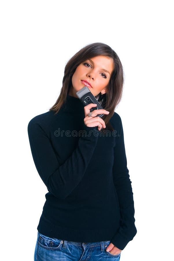 Das Mädchen mit Telefon