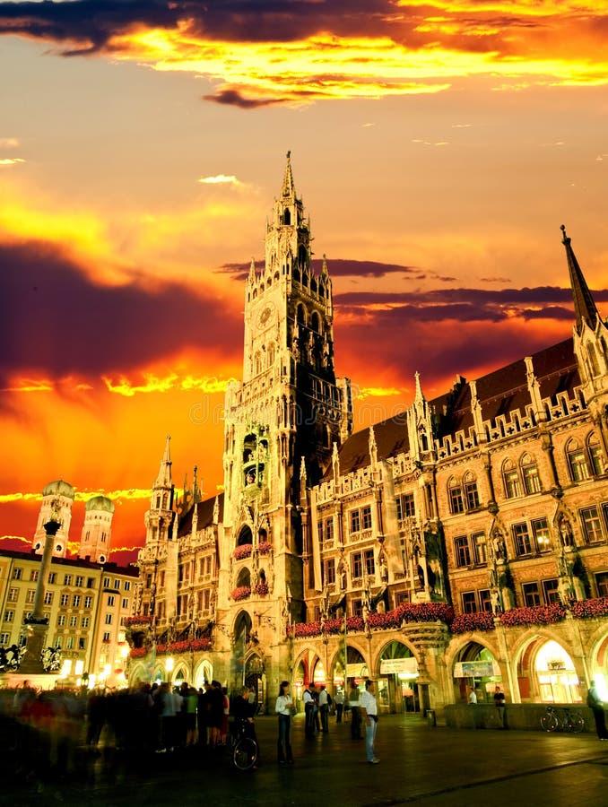 Das München-Rathaus lizenzfreies stockfoto