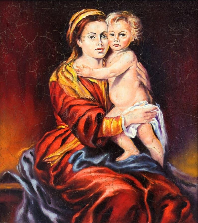 Das Madonna mit dem Kind stock abbildung