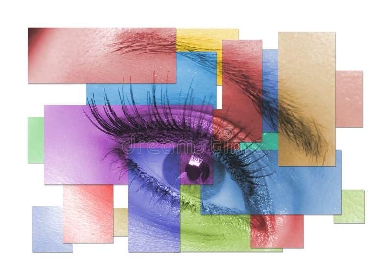 Das makro weibliche Auge lizenzfreie stockbilder