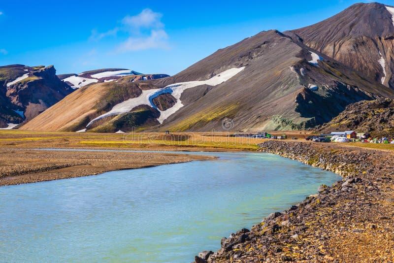 Das malerische Tal im Park Landmannalaugar, Island lizenzfreie stockfotografie