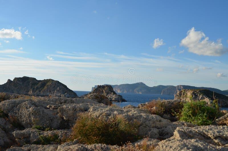 Das Malgrats im Mittelmeer- und in der Natur stockbild