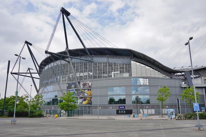 Das Manchester City Etihad Stadion lizenzfreie stockbilder