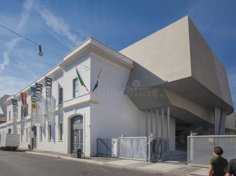 Das Maxxi-Nationalmuseum der Künste des 21. Jahrhunderts stockfotos