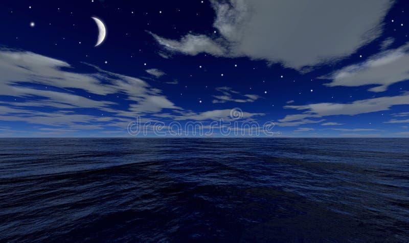 Das Meer bis zum Nacht vektor abbildung