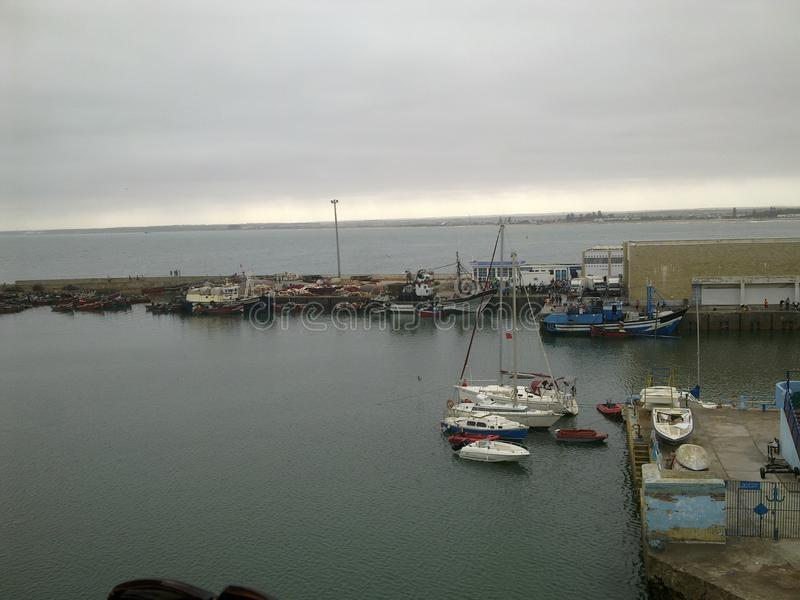 das Meer-eljadida Marokko lizenzfreies stockbild