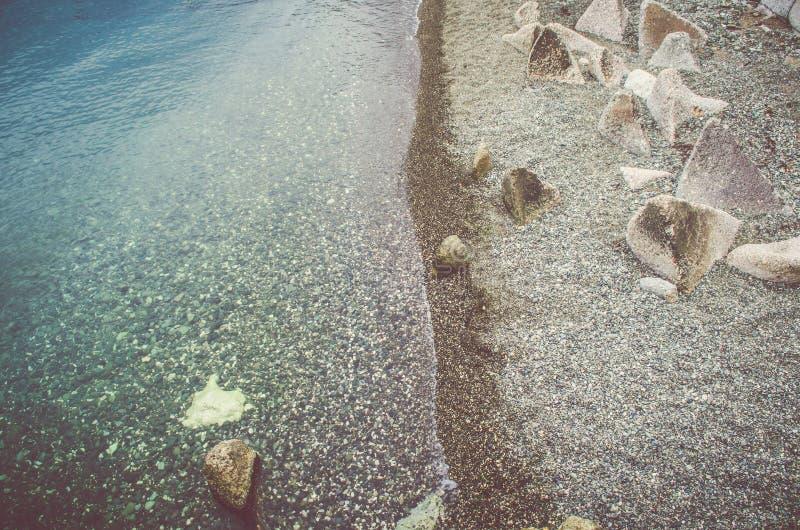Das Meer hat zwei Seiten, wie eine Münze stockfotos