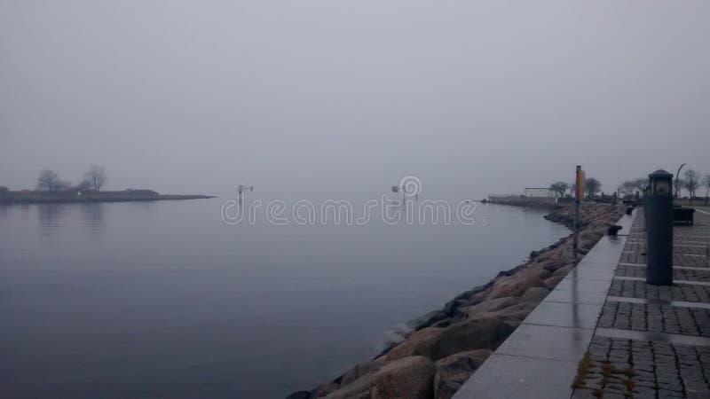 Das Meer im Winter stockfotografie