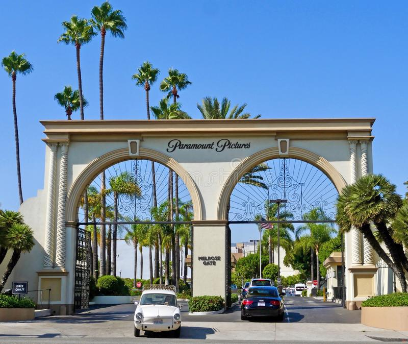 Das Melrose-Tor an Paramount-Studios, wie von der Melrose-Allee gesehen stockfotografie