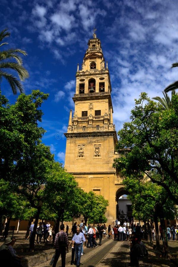 Das Mezquita-Spanisch für Moschee von Cordoba in Andalusien, Spanien stockbild