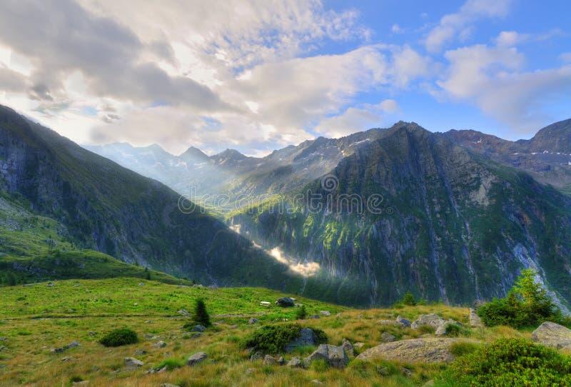 Das Miller-Tal nach einem Morgensturm lizenzfreies stockbild