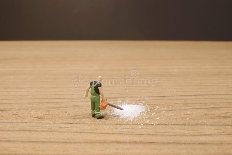 das Mini-woker klärt den Zucker stockbild