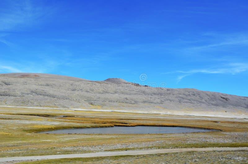 Das mit dem Himalajasee lizenzfreie stockfotos