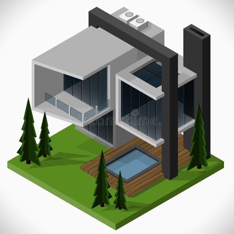 Das moderne Haus vektor abbildung