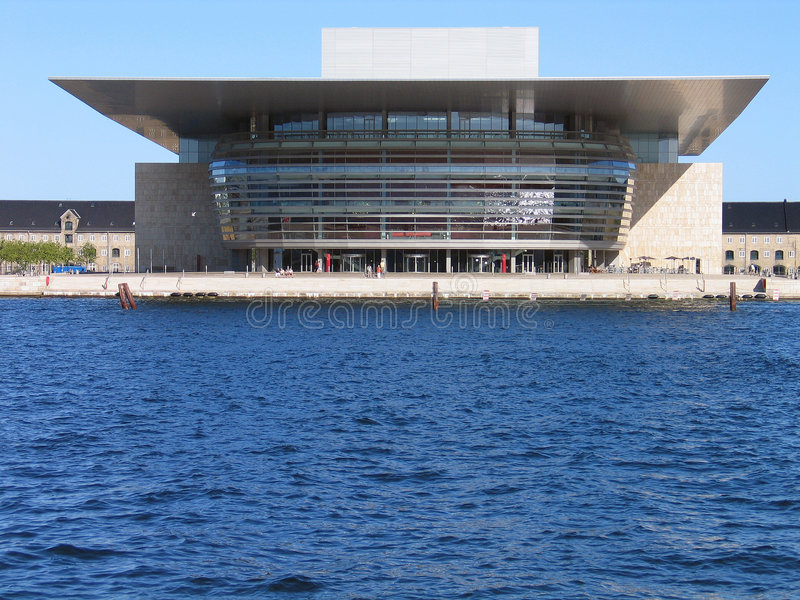 Das moderne Opernhaus Kopenhagen Dänemark lizenzfreies stockbild