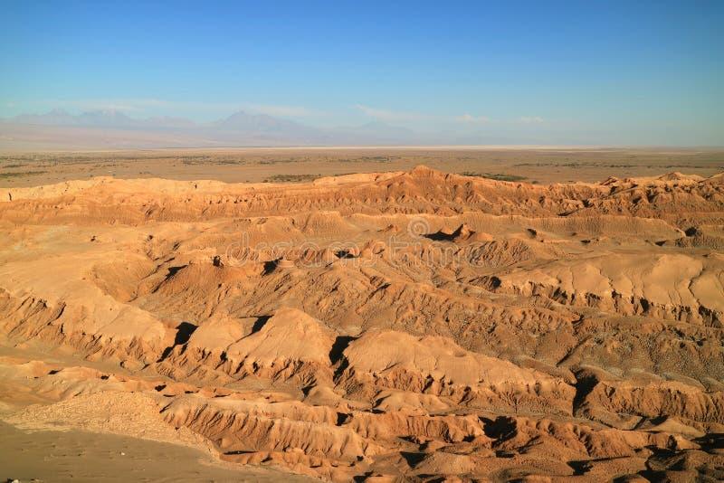 Das Mond-Tal- oder ELvalle De-La Luna in Atacama-Wüste, San Pedro Atacama, Chile stockbilder