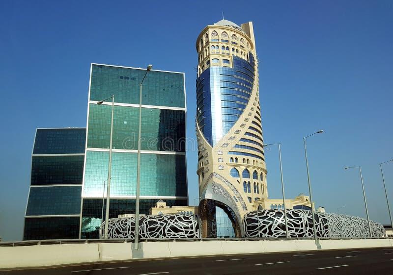 Das Mondrian Doha, ein 24 Geschosswolkenkratzer, der Wohnungen und ein Luxushotel mit 270 Räumen enthält stockbild