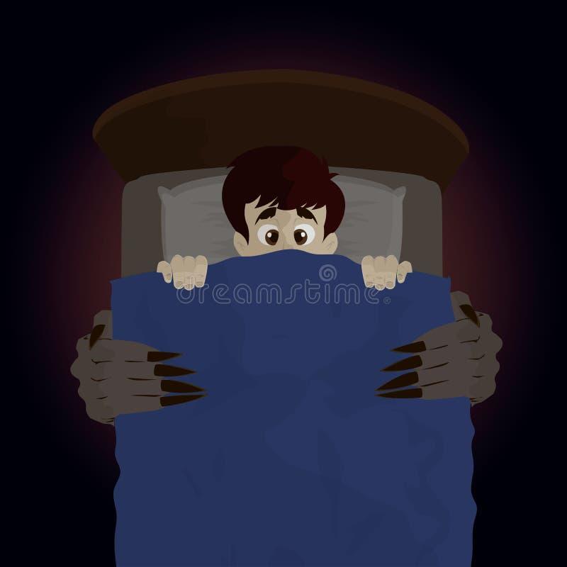 Das Monster von unterhalb des Betts vektor abbildung