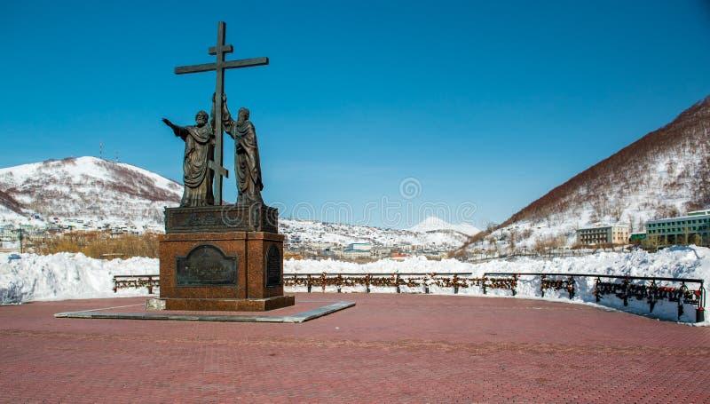 Das Monument der heiligen Apostel Peter und Paul stockbild