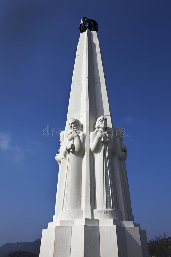 Das Monument des Astronomen, Griffith-Observatorium, Los Angeles stockfotografie