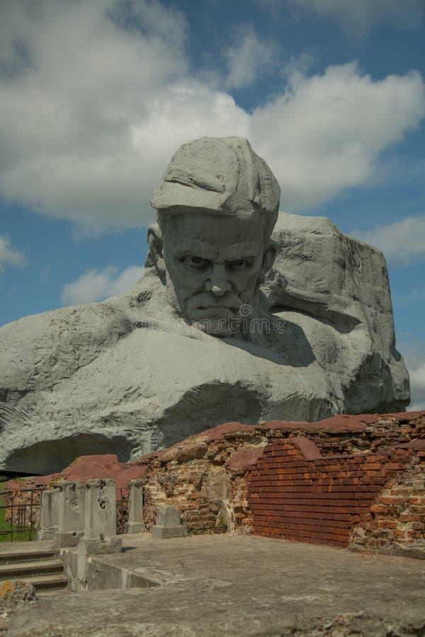Das Monument ` Mut ` in der Brest-Festung stockbild