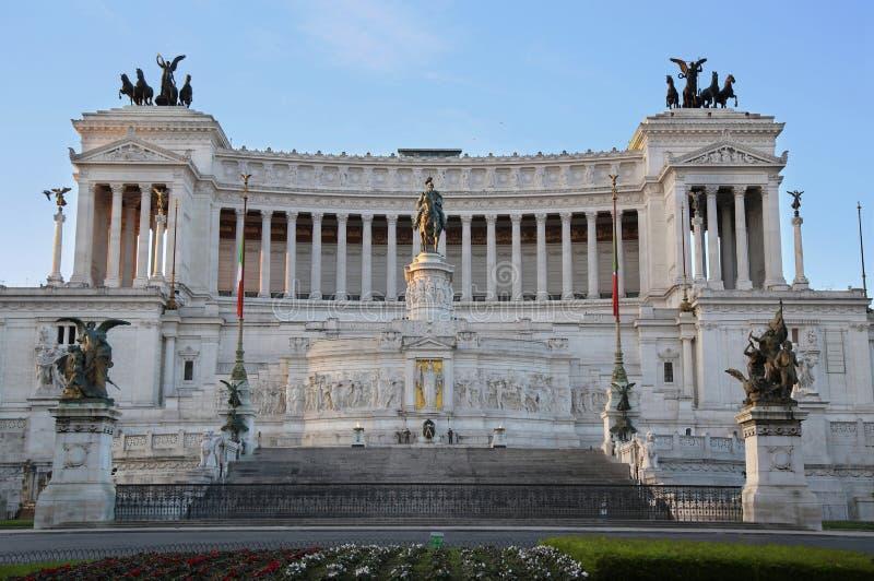 Das Monument von Victor Emmanuel II, Venezia-Quadrat, in Rom, es stockbilder
