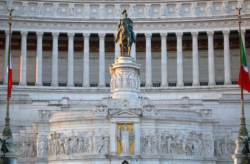 Das Monument von Victor Emmanuel II, Venezia-Quadrat, in Rom, es stockfoto