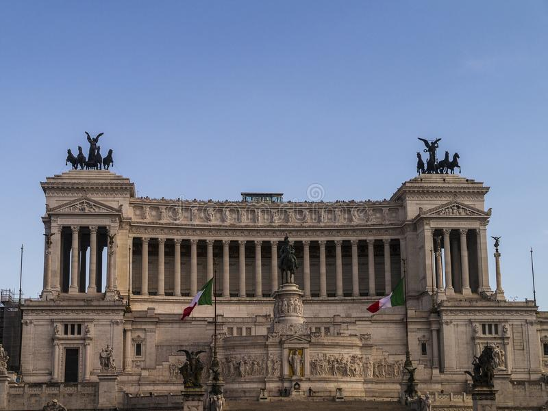 Das Monument zu König Vittorio Emanuele 2 im Marktplatz Venezia in Rom stockfoto