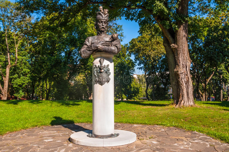 Das Monument zum Hetman Ivan Mazepa stockbilder