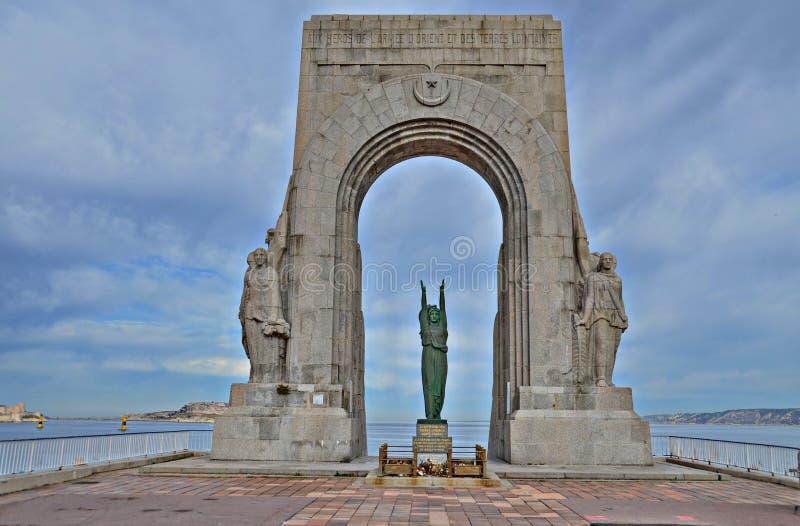 Das ` Monument Zusatz-Morts DES orientiert ` in Marseille, Frankreich lizenzfreies stockfoto