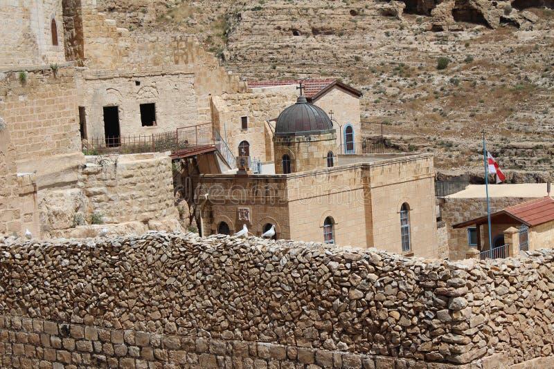 Das Mrz Saba Monastery, Laura unseres heiligen Vaters Sabbas stockfotografie