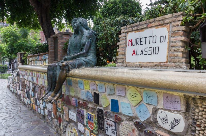 Das Muretto von Alassio lizenzfreie stockbilder