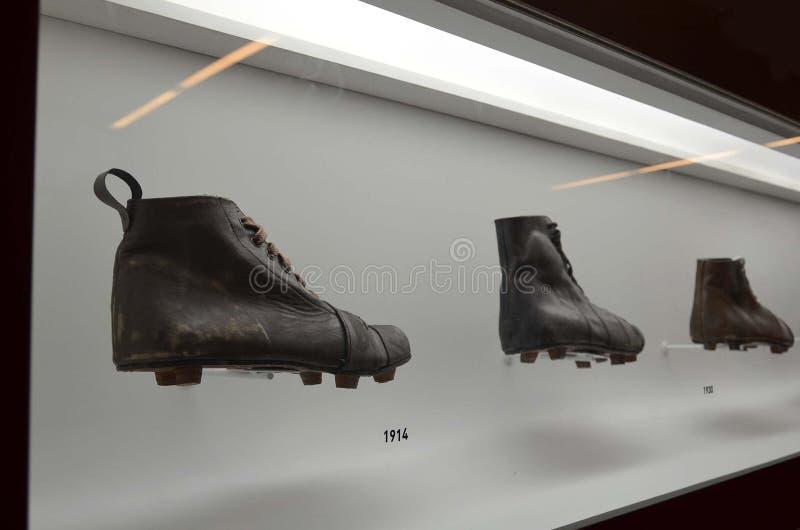 Das Museum des Fußballs ist ein Raum, der den verschiedenen Themen gewidmet wird, welche die Praxis, die Geschichte und Kanaille, lizenzfreie stockbilder