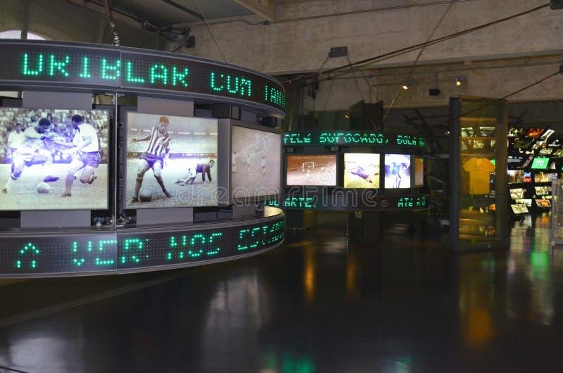 Das Museum des Fußballs ist ein Raum, der den verschiedenen Themen gewidmet wird, welche die Praxis, die Geschichte und Kanaille, lizenzfreies stockbild