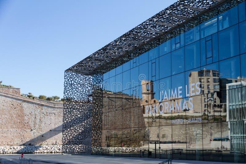 Das Museum von europäischen und Mittelmeerzivilisationen MuCEM stockfoto