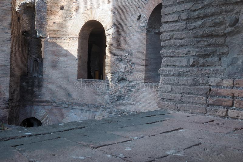 Das Museum von Kaiserforen in Rom, Italien stockfoto