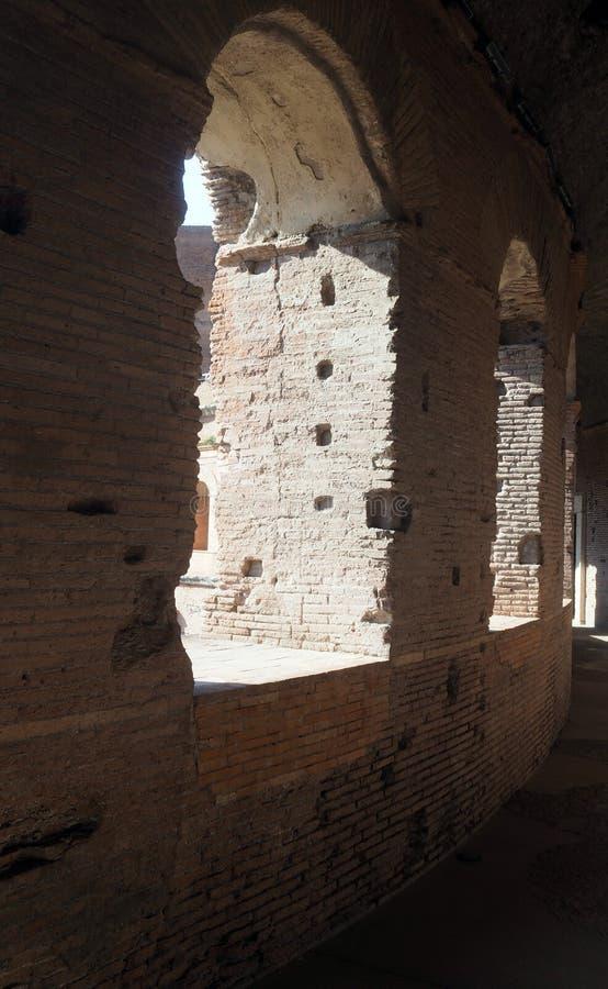 Das Museum von Kaiserforen in Rom, Italien stockfotos