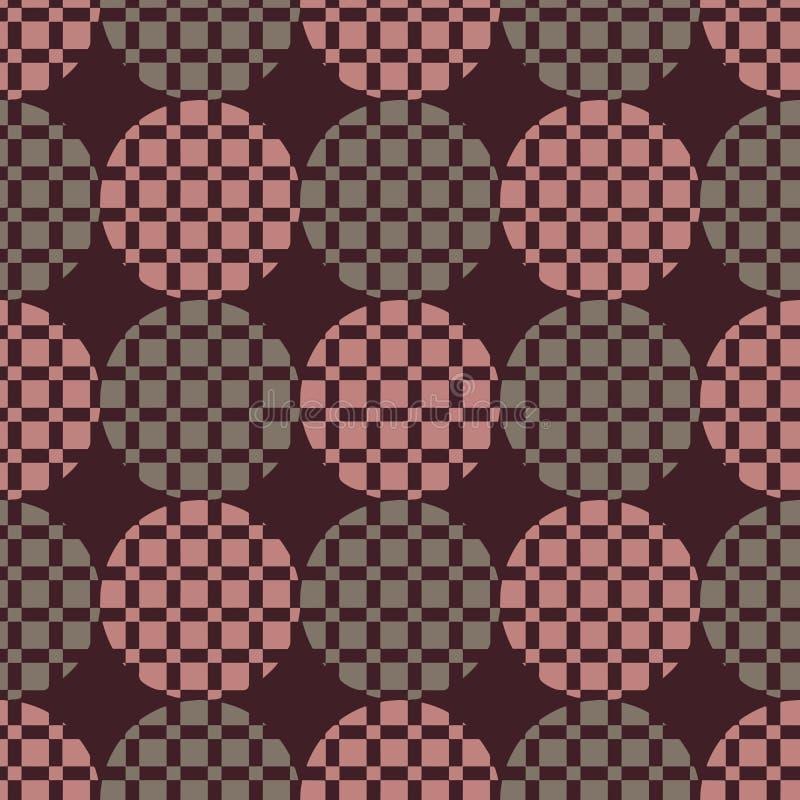 Das Muster von Kreisen und von Quadraten stockbilder