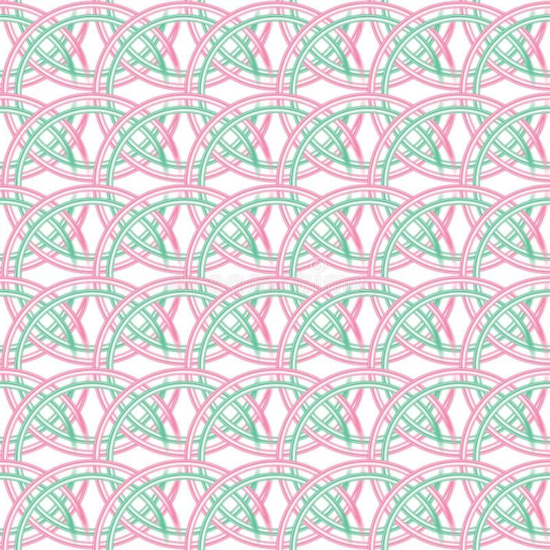 Das Muster von schneidenen Kreisen lizenzfreie abbildung