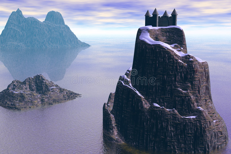 Das mystische Schloss lizenzfreies stockbild