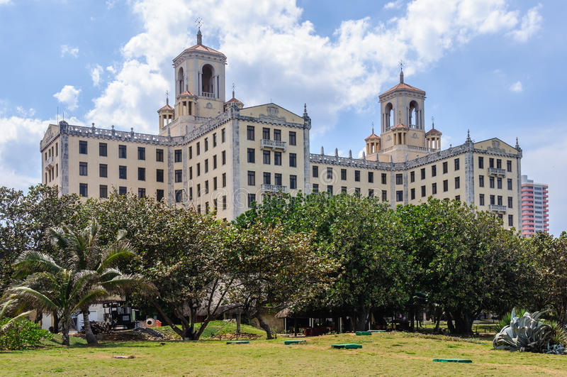 Das mythische Hotel Nacional in Havana, Kuba lizenzfreies stockfoto