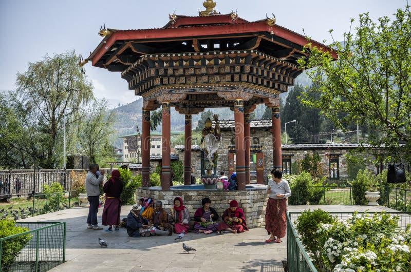 Das nationale Erinnerungs-Chorten gelegen in Thimphu, die Hauptstadt von Bhutan stockfoto