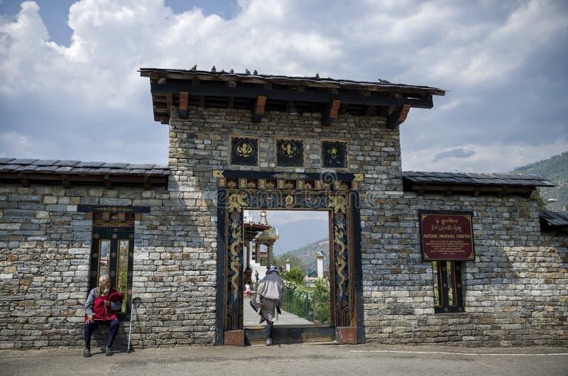Das nationale Erinnerungs-Chorten gelegen in Thimphu, die Hauptstadt von Bhutan lizenzfreies stockfoto